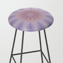 Pink and Lilac 3D Flower Three Bar Stool