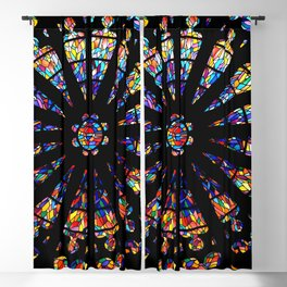 Church stained glass windows colors Blackout Curtain