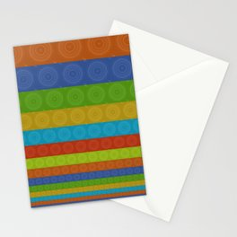 Coloured circles Stationery Cards