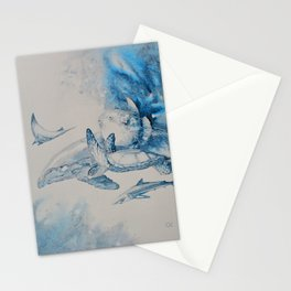 Gulf Stream - Whale, Sea Turtle, Shark Stationery Cards