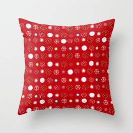 winter pattern4 Throw Pillow