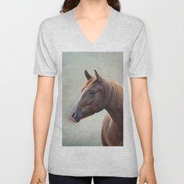 Horse. Drawing portrait Unisex V-Neck