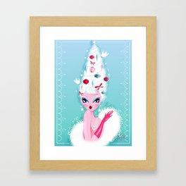 Christmas Coiffure Framed Art Print