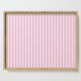 Tiny Triangles Stripes in Pink Serving Tray