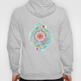 Messy Boho Floral in Rainbow Hues Hoody
