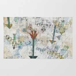 Birds Swooping Down and Arrows Rug