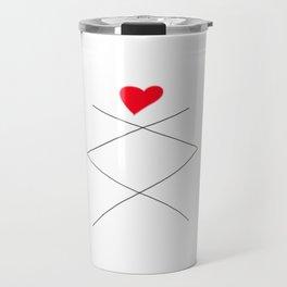 Inguz Rune with full Heart Travel Mug