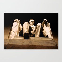 Lincoln stirs Canvas Print