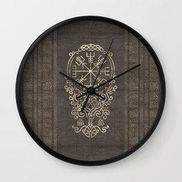 Vegvisir and Tree of life  - Yggdrasil Wall Clock