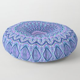 Purple Passion - Mandala Art Floor Pillow