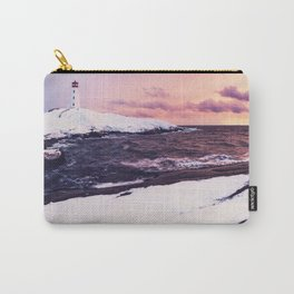 Fresh Snow at Peggy's Cove Lighthouse Carry-All Pouch