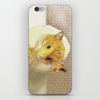 hamster iPhone & iPod Skins featuring Hamster by Lucie Mizutani