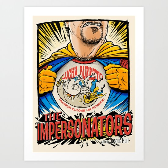 The Impersonators Teaser Poster Art Print