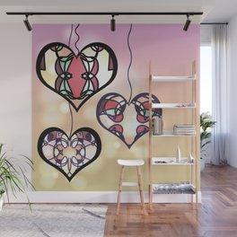 Ornament hearts Wall Mural