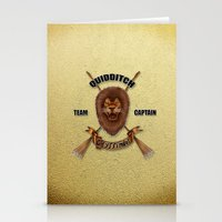 gryffindor Stationery Cards featuring Gryffindor Quidditch Team Captain by JanaProject