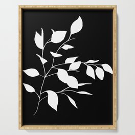 White Leaves Serving Tray