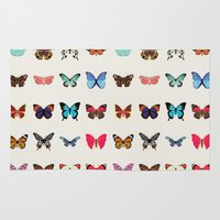 butterflies Area & Throw Rugs featuring Butterflies by Dorothy Leigh