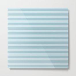 Stripes (Parallel Lines, Striped Pattern) - Blue Metal Print