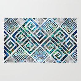 Greek Meander Pattern - Greek Key Ornament Rug