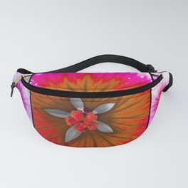 Flower Panels Fanny Pack