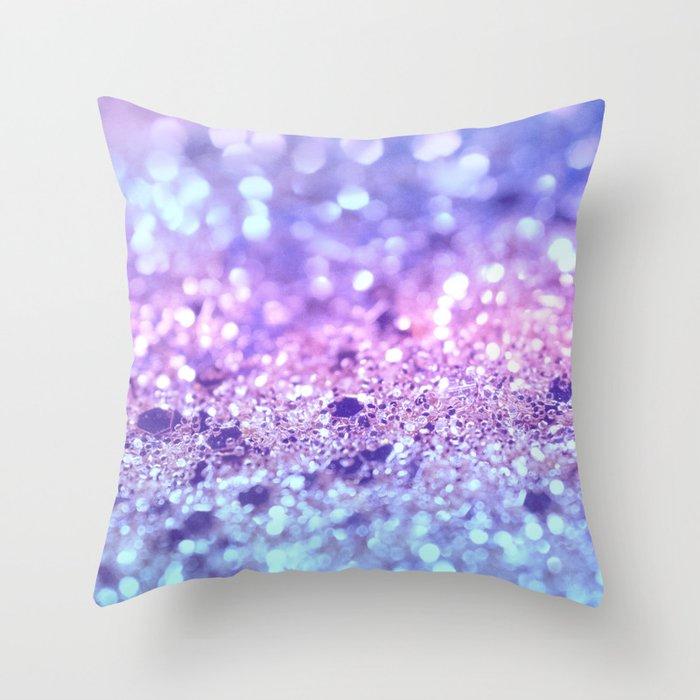 Summer Unicorn Girls Glitter #2 #shiny #pastel #decor #art #society6 Deko-Kissen