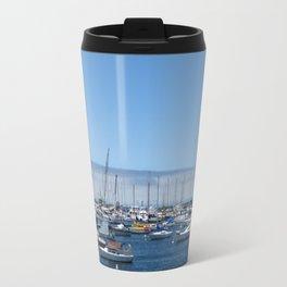Boats in the harbor Travel Mug