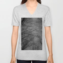 Tree of black Unisex V-Neck