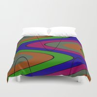 70s Duvet Covers featuring 70s Baby by Sha Mitchell