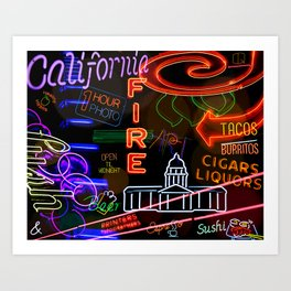 The Night Life Art Print