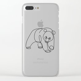 Sweet Panda Clear iPhone Case
