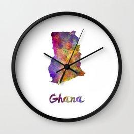 Ghana in watercolor Wall Clock