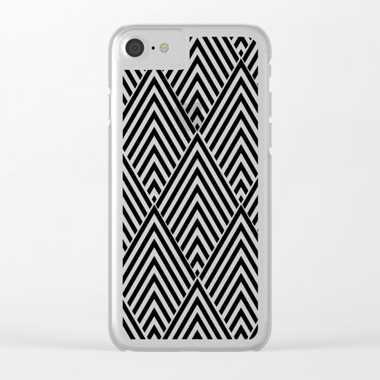 Triangles in Diamonds Clear iPhone Case