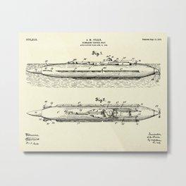 Submarine Torpedo Boat 01-1910 Metal Print