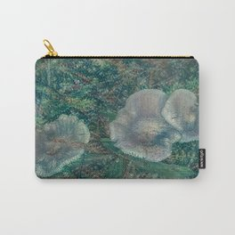 Blurry Blue Mushrooms Carry-All Pouch