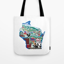Wisconsin Country Sampler Tote Bag
