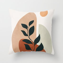 Soft Shapes II Throw Pillow