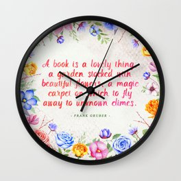 A book is a lovely thing Wall Clock