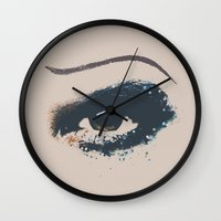 hedwig Wall Clocks featuring Hedwig Eye by byebyesally
