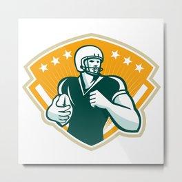 American Football Runningback Crest Metal Print