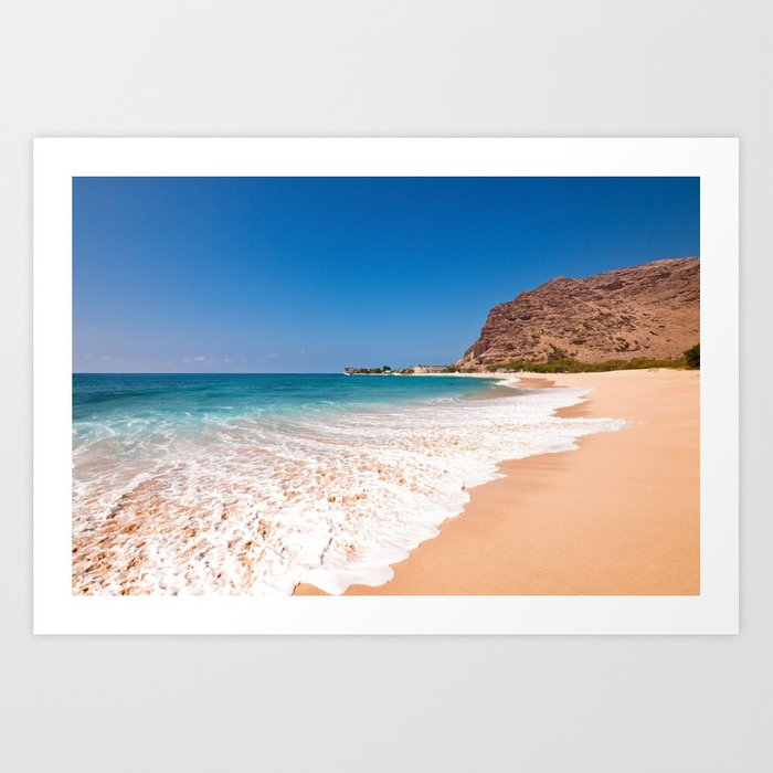 Makaha Beach Art Print