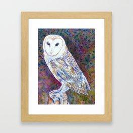 Watercolor barn owl Framed Art Print