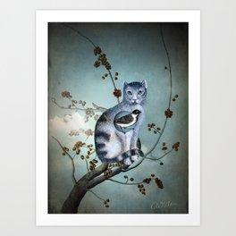 The Blue Cat Art Print