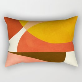 geometric autumn sun abstract Rectangular Pillow