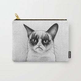 Grumpy Simmons Cat Whimsical Funny Animal Music Carry-All Pouch