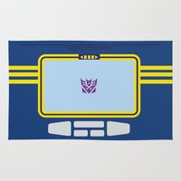 transformers Area & Throw Rugs featuring Soundwave Transformers Minimalist by Jamesy