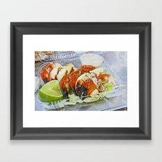 Stone Crab Framed Art Print