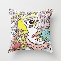 Thinking Too Much Throw Pillow