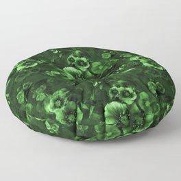 Moody Florals green Floor Pillow