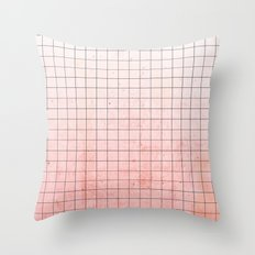 Sweet Pink Geometry Throw Pillow