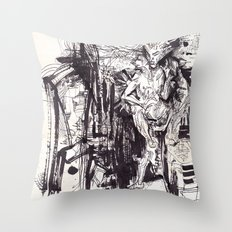 Him & She Throw Pillow